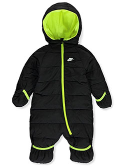 Baby Boys' 1-Piece Snowsuit by Nike in army olive and black multi, Infants