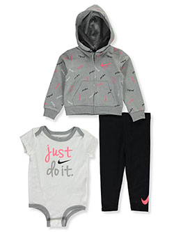 Baby Girls' 3-Piece Pants Set Outfit by Nike in Black
