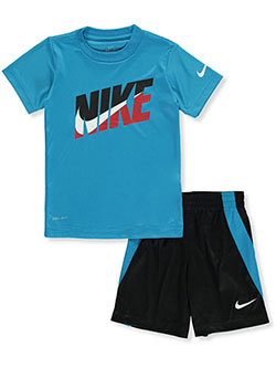 Boys' 2-Piece Shorts Set Outfit by Nike in Blue/black