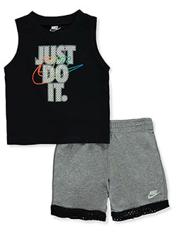 Baby Boys' 2-Piece Shorts Set Outfit by Nike in Dark gray heather