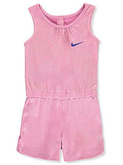 Girls' Heathered Romper by Nike in Flamingo