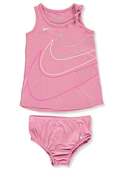 Baby Girls' 2-Piece Dress Set by Nike in Flamingo, Infants