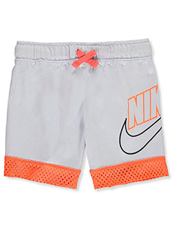 Boys' Mesh Jersey Performance Shorts by Nike in Gray, Boys Fashion