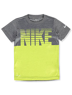 Boys' Dri-Fit Logo Performance Top by Nike in Gunsmoke, Sizes 4-7