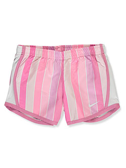 Girls' Striped Performance Shorts by Nike in Flamingo, Sizes 4-6X
