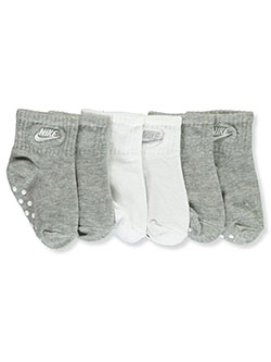 Unisex Baby 3-Pack No-Slip Ankle Socks by Nike in Gray, Infants