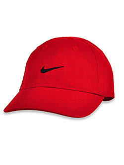 Baby Boys' Swoosh Cotton Cap by Nike in Gym red, Infants