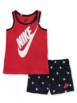 Girls' All-Star 2-Piece Shorts Set Outfit by Nike in Obsidian