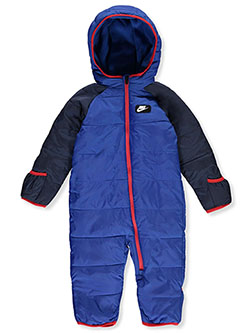 Baby Boys' Fleece Lined Snowsuit by Nike in Game royal, Infants