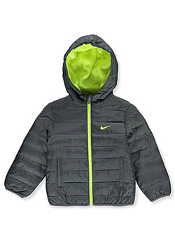 Baby Boys' Hooded Quilted Jacket by Nike in Multi