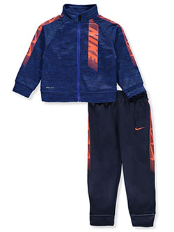 Baby Boys' Side Logo 2-Piece Track Suit by Nike in Navy - Active Sets