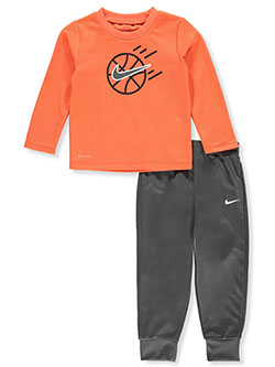 Baby Shoot Hoops 2-Piece Pants Set Outfit by Nike in Multi