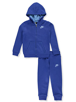 Boys' 2-Piece Sweatsuit Pants Set Outfit by Nike in University red