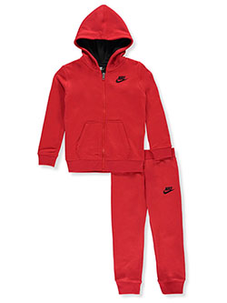 Boys' 2-Piece Sweatsuit Pants Set Outfit by Nike in Red