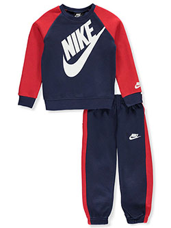 Boys' 2-Piece Sweatsuit Pants Set Outfit by Nike in Game royal