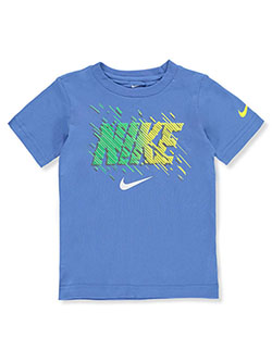 Boys' Stripe Logo T-Shirt by Nike in Multi