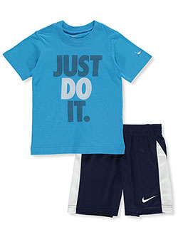 Boys' Just Do It 2-Piece Shorts Set Outfit by Nike in Navy