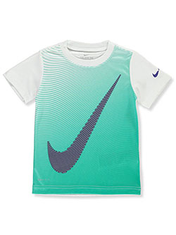 Boys' Logo Dri-Fit Performance Top by Nike in White