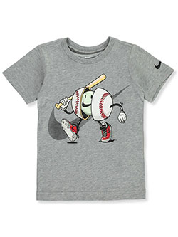 Boys' Baseball T-Shirt by Nike in Gray