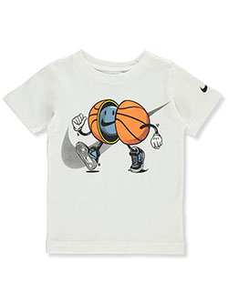 Boys' Basketball T-Shirt by Nike in White - $21.00
