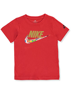 Boys' Flags Logo T-Shirt by Nike in University red, Boys Fashion