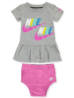 Baby Girls' Dress with Diaper Cover by Nike in Gray