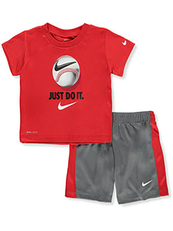 Baby Boys' Dri-Fit 2-Piece Shorts Set Outfit by Nike in Multi