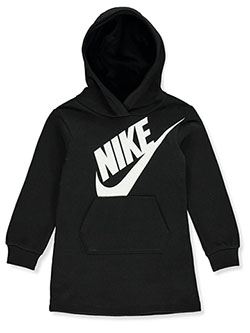 Girls' Hooded Fleece Dress by Nike in Black