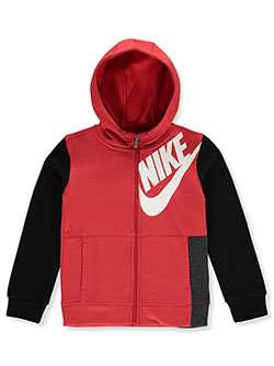 Boys' Zip Hoodie by Nike in Red