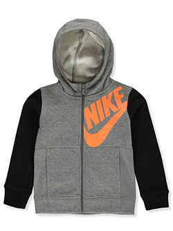 Nike Boys' Zip Hoodie by NIKe in Gray