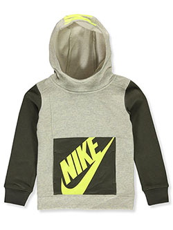 Boys' Pullover Hoodie by Nike in Heather gray