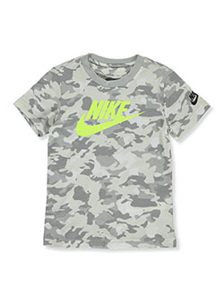 Boys' Graphic T-Shirt by Nike in White