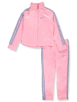 Girls' 2-Piece Tracksuit Outfit by Nike in Pink