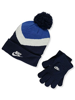 Boys' Beanie & Gloves Set by Nike in Game royal - $32.00