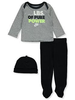 Baby Boys' 3-Piece Layette Set by Nike in Black