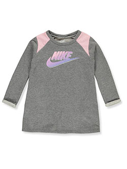 Girls' French Terry Shirt Dress by Nike in Carbon heather