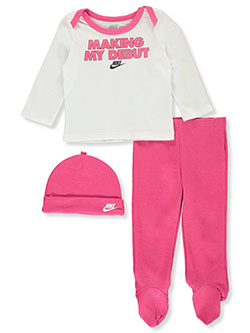 Baby Girls' 3-Piece Layette Set by Nike in Fuchsia