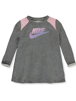 Girls' French Terry Shirt Dress by Nike in Multi