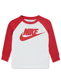 Boys' Raglan Shirt by Nike in White