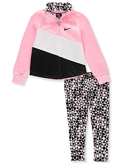 Girls' 2-Piece Leggings Set Outfit by Nike in Multi