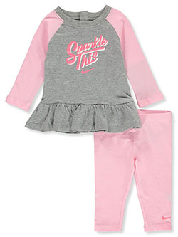 Baby Girls' 2-Piece Leggings Set Outfit by Nike in Multi