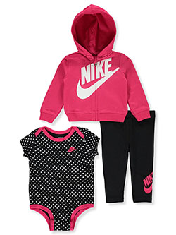 Baby Girls' 3-Piece Leggings Set Outfit by Nike in Black