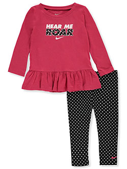 Baby Girls' 2-Piece Leggings Set Outfit by Nike in Black