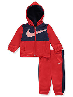 Baby Boys' 2-Piece Dri-FIt Tracksuit Outfit by Nike in University red