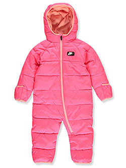 Baby Girls' Insulated 1-Piece Snowsuit by Nike in Multi, Infants