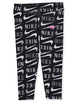 Girls' Leggings by Nike in Black