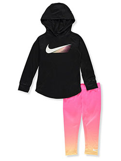 Girls' 2-Piece Leggings Set Outfit by Nike in Hyper pink