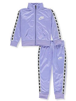 Girls' 2-Piece Tracksuit Outfit by Nike in Racer print