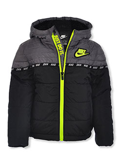 Boys' Insulated Hooded Jacket by Nike in Black