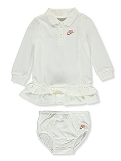 Baby Girls' Tennis Dress with Diaper Cover by Nike in Sail